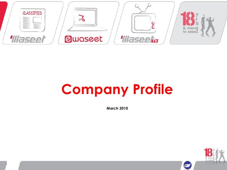 Waseet Profile -March 20010