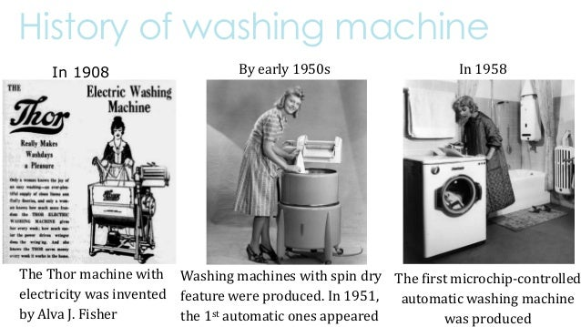 when was the washing machine invented