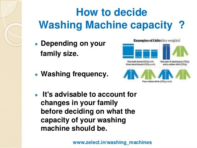 washing machine sizes guide