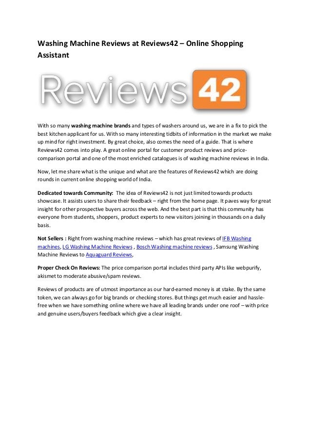 washing machine brands review