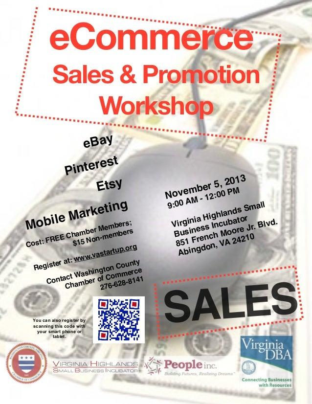 eCommerce Sales & Promotion Workshop  eBay rest  Pinte Etsy M obile M  ting arke  ers; Memb rs mber be E Cha Non-mem RE F ...