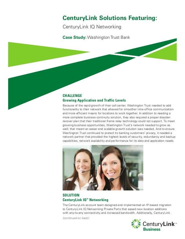 Washington trust bank case study