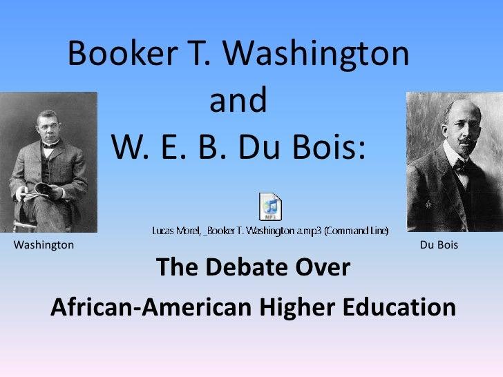 Washington And Du Bois