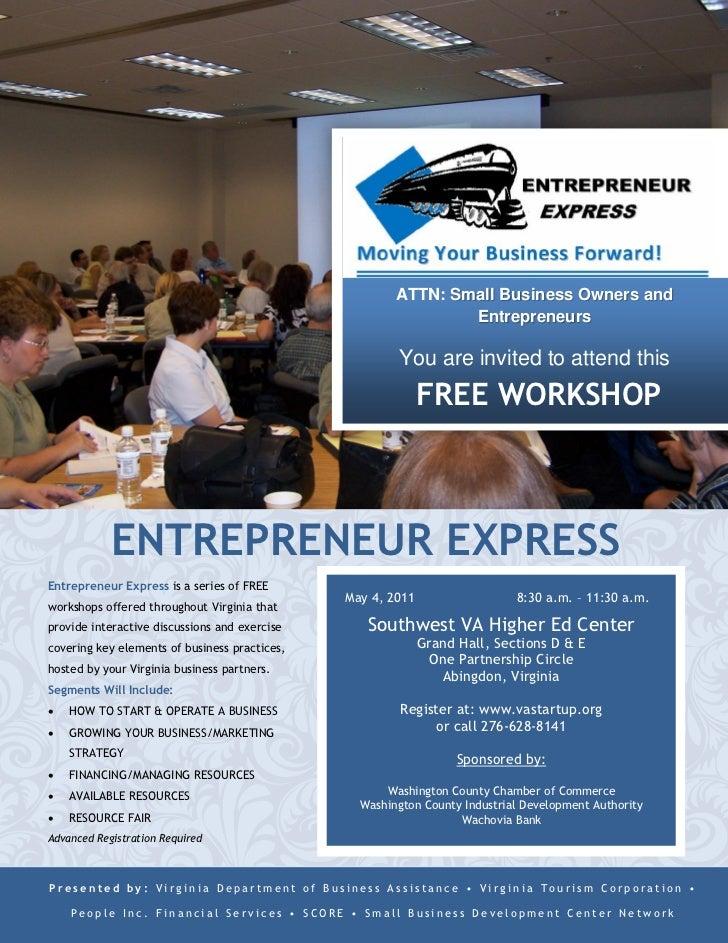 Washington County Entrepreneur Express, May 4, 2011