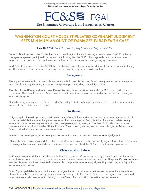 The Insurance Coverage Law Information Center The following article is from National Underwriter's latest online resource,...