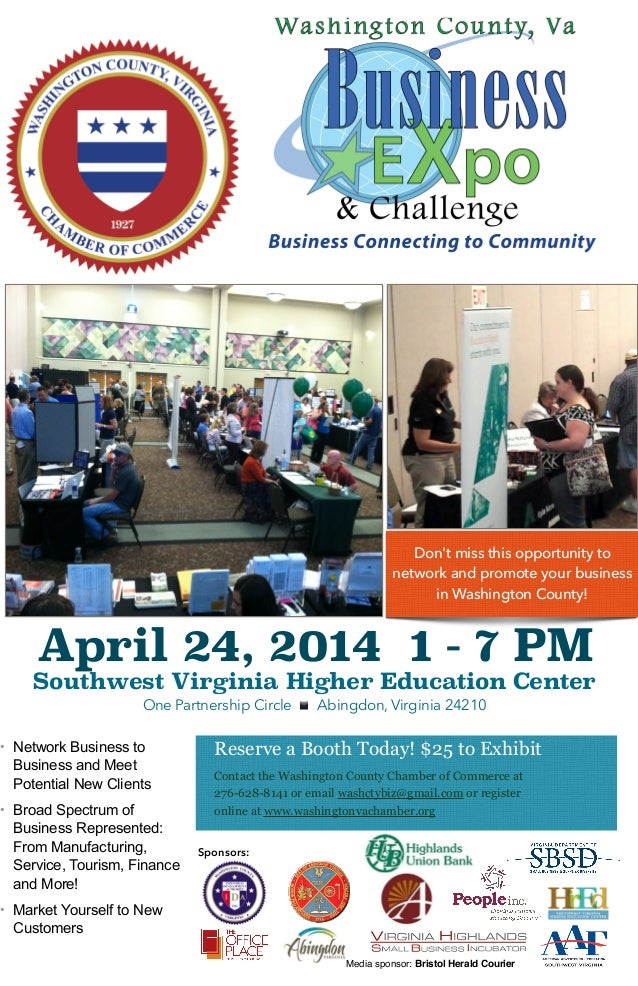 April 24, 2014 1 - 7 PM Southwest Virginia Higher Education Center One Partnership Circle ▪ ️ Abingdon, Virginia 24210 Res...