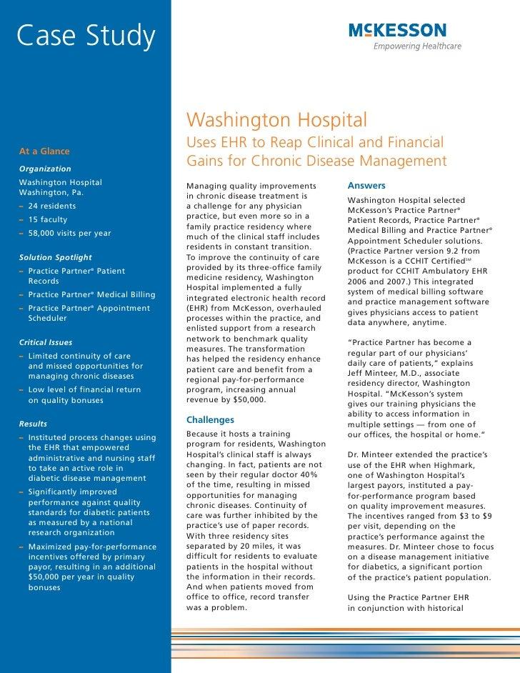 Case Study                                        Washington Hospital At a Glance                                       Us...