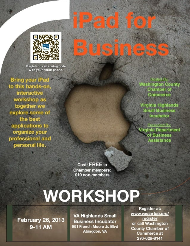 iPad for                                   Business       Register by scanning code        with your smart phone. Bring yo...