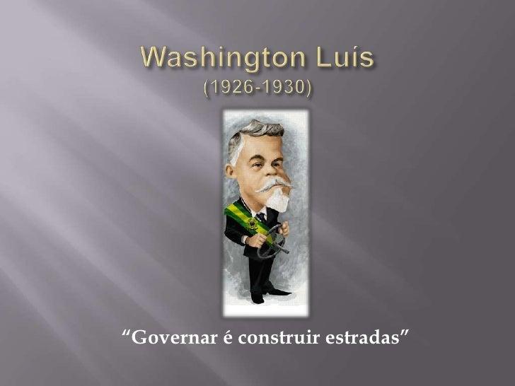 Washington luís