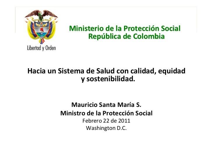 Ministerio de la Protección Social   República de Colombia                     Ministerio de la Protección Social         ...