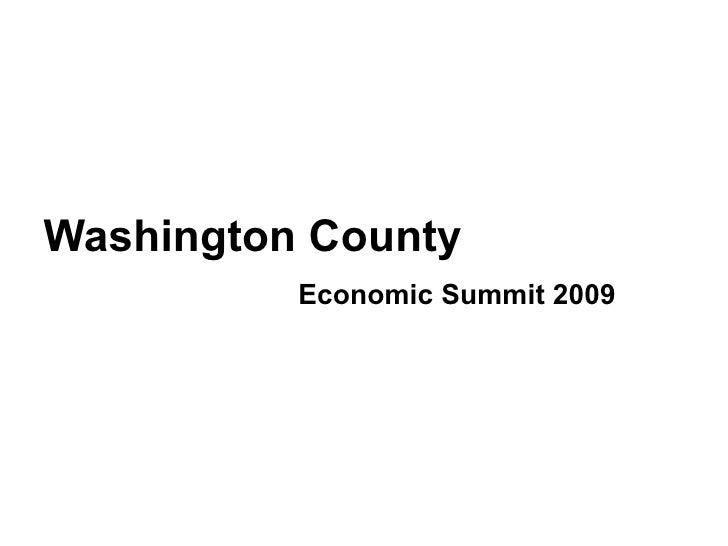 Washington County Summit 2009