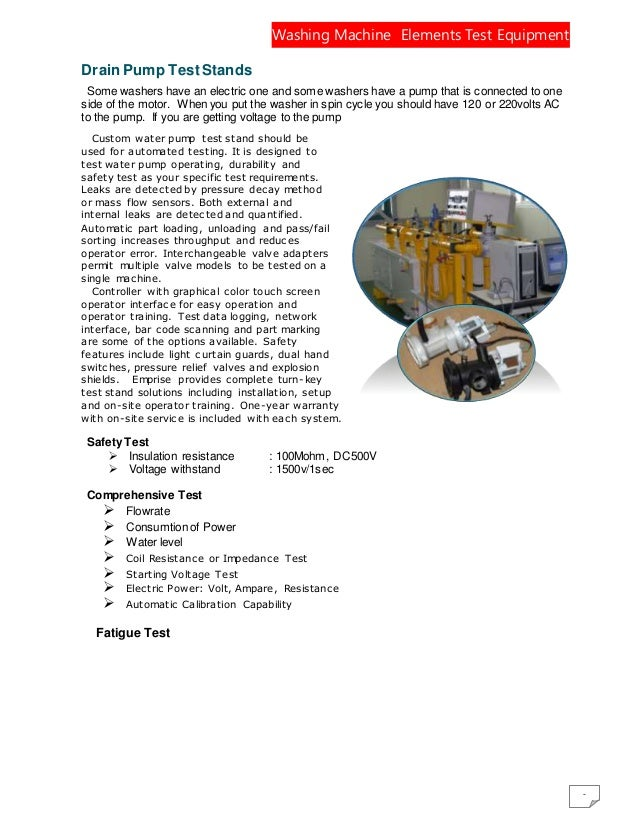 Drain Testing Equipment Elements Test Equipment