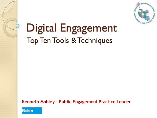 Top Ten Digital Engagement Tools - WASHTO 2013 Annual Meeting