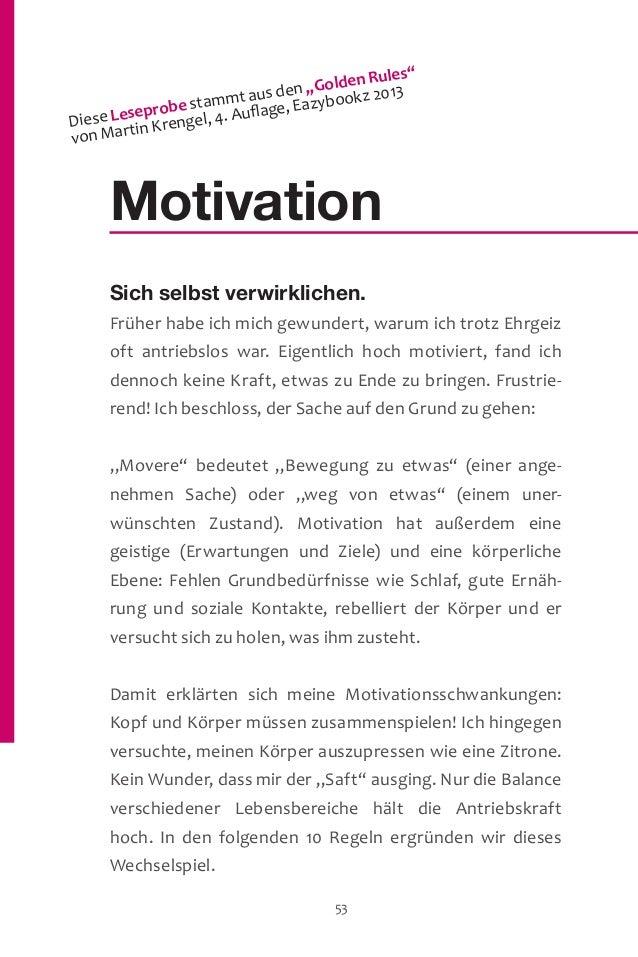 Motivation Sich selbst verwirklichen. Früher habe ich mich gewundert, warum ich trotz Ehrgeiz oft antriebslos war. Eigentl...