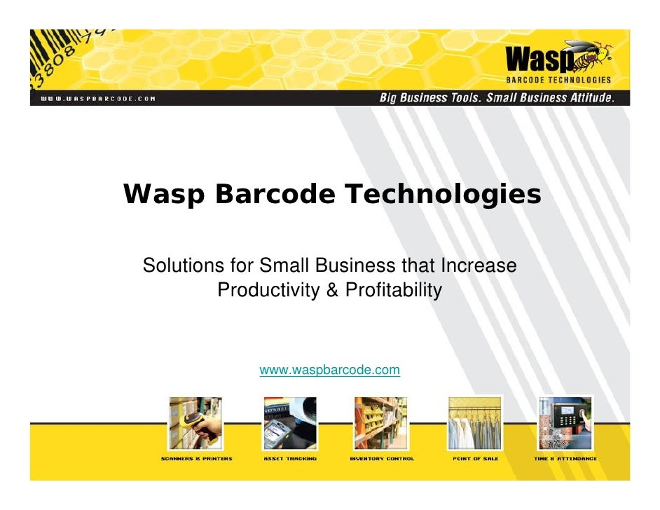 Wasp Barcode Technologies   Solutions for Small Business that Increase          Productivity  Profitability               ...