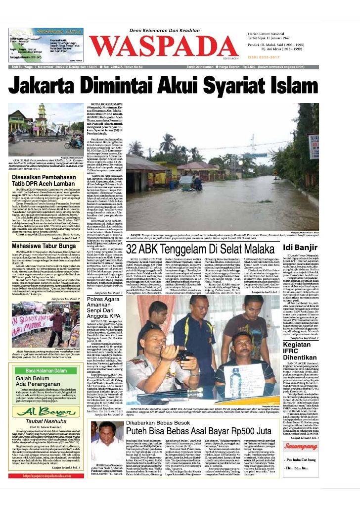 Waspada Aceh 07 11 09