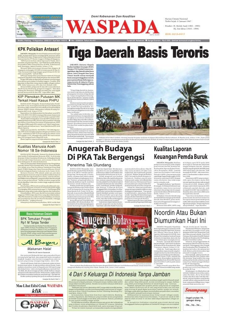 Waspada Aceh 12 8 2009