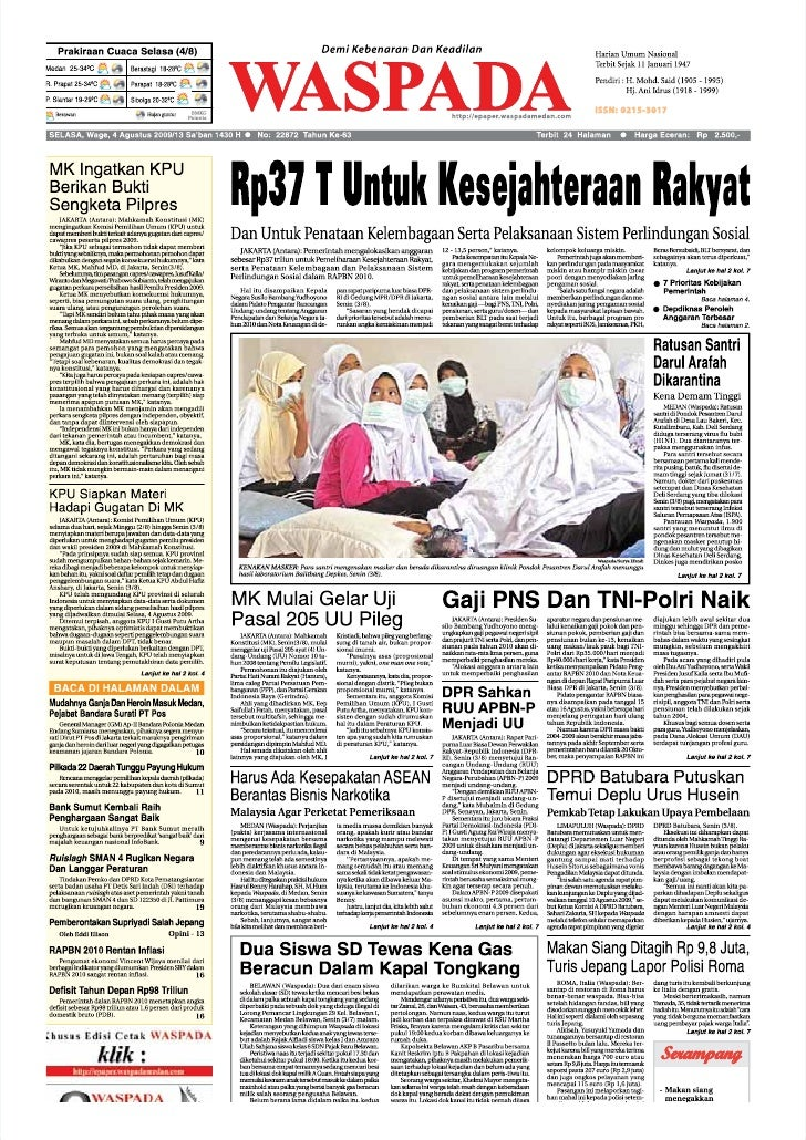 Waspada Aceh 4 Agustus 2009