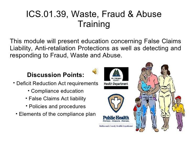 Waste, Fraud & Abuse Training