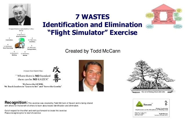 Waste identification and elmination exercise materials todd mc cann rev 23