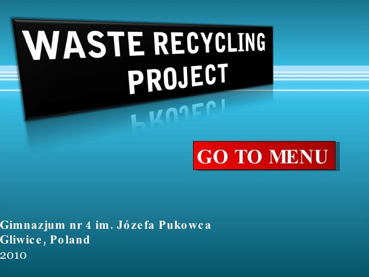 Waste  Recycling  Project   Final