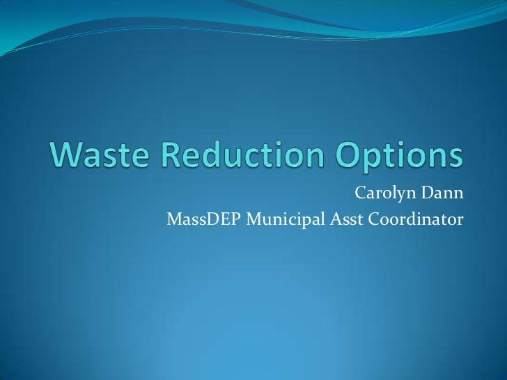 TEST UPLOAD PRESENTATION Waste reduction
