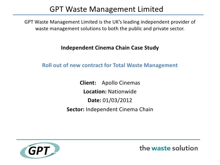 Waste solutions -  Independent cinema chain case study