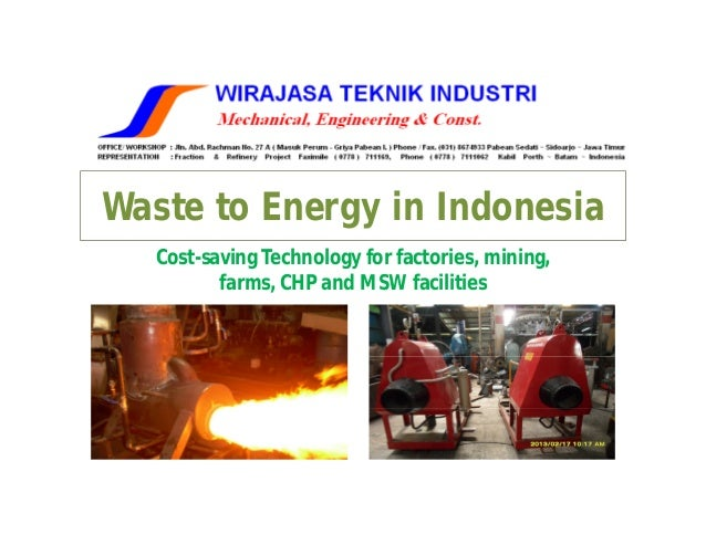 Waste to energy in Indonesia