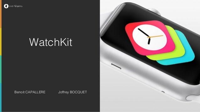 Ici, ajoutez un visuel à propos du client ou projet Benoit CAPALLERE Joffrey BOCQUET WatchKit