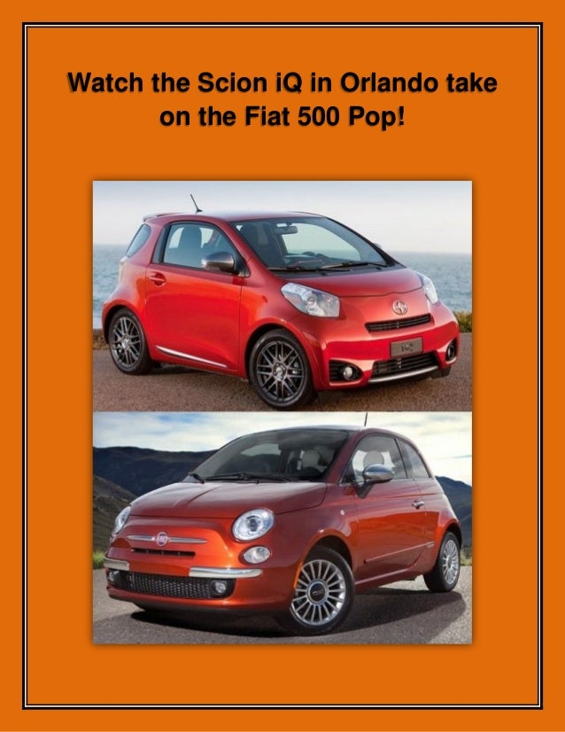 Watch the Scion iQ in Orlando take on the Fiat 500 Pop