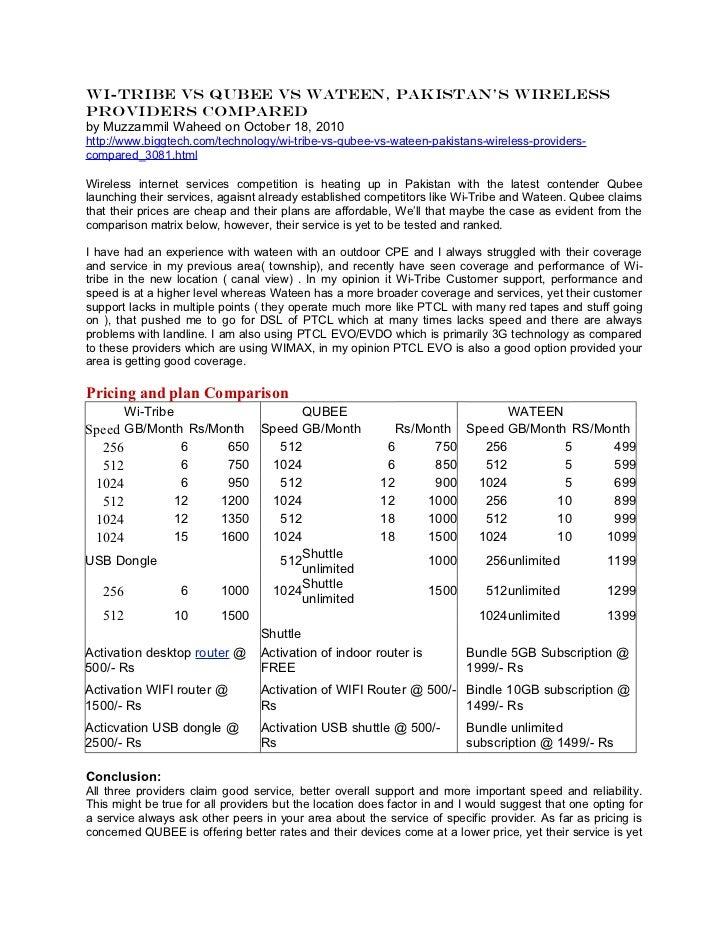 Wimax Pakistan Case Study