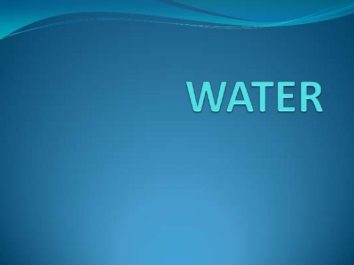 WATER<br />