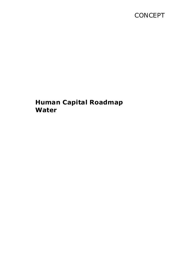 CONCEPT Human Capital Roadmap Water
