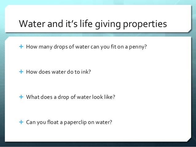 ap bio water essay