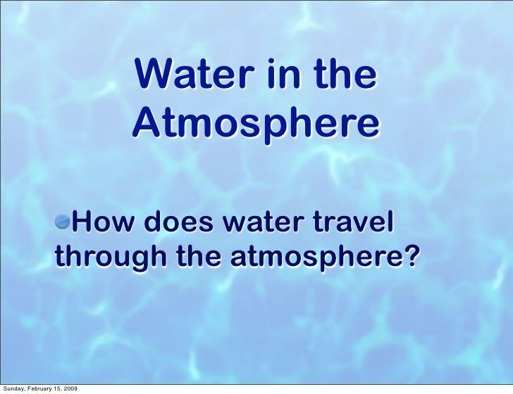 Water And Precipitation Notes