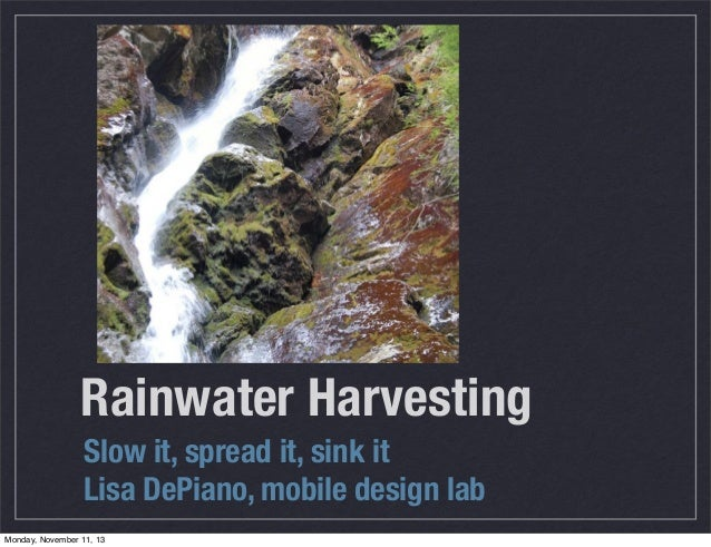Water  a permaculture approach