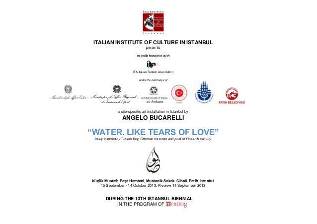 ITALIAN INSTITUTE OF CULTURE IN ISTANBUL                                   presents                             in collabo...