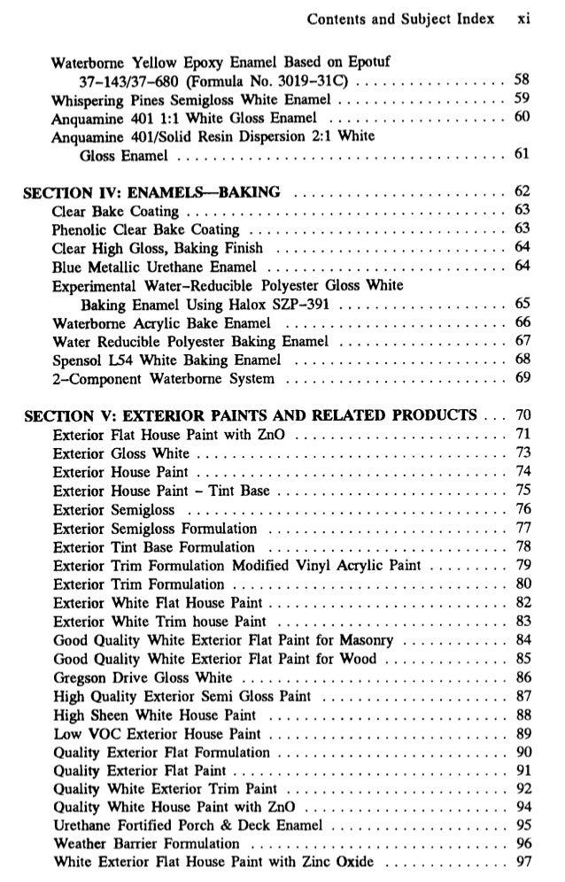 Water Based Metallic Paint Formulation