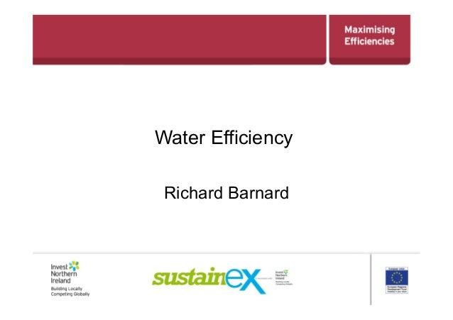 Water EfficiencyRichard Barnard