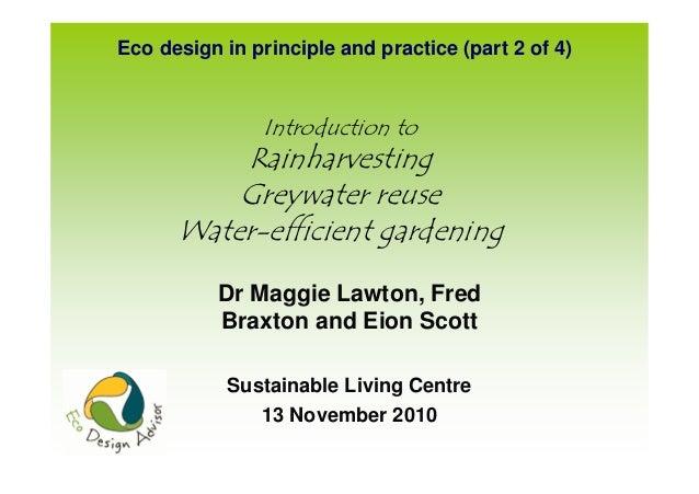 Introduction to Rainharvesting Greywater Reuse Water-Efficient Gardening - New Zealand