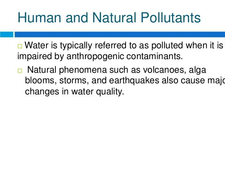 short essays on water pollution Pollution-free Environment