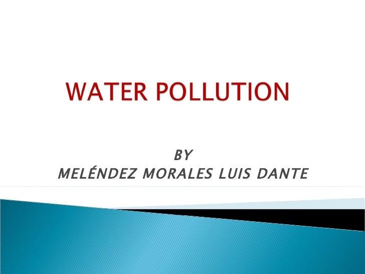 Water Pollution Dante