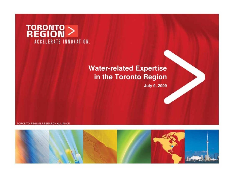Water Related Expertise In Toronto Region   July09 Final