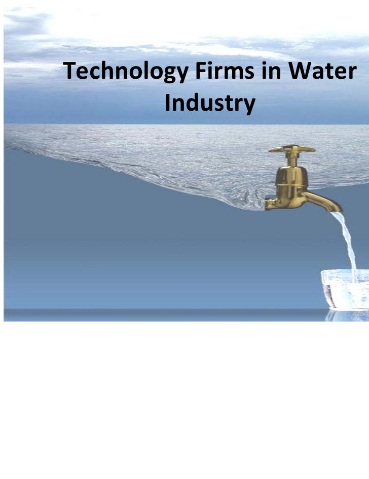 Cutting-edge Technologies in the Water Industry (Jan 2011)