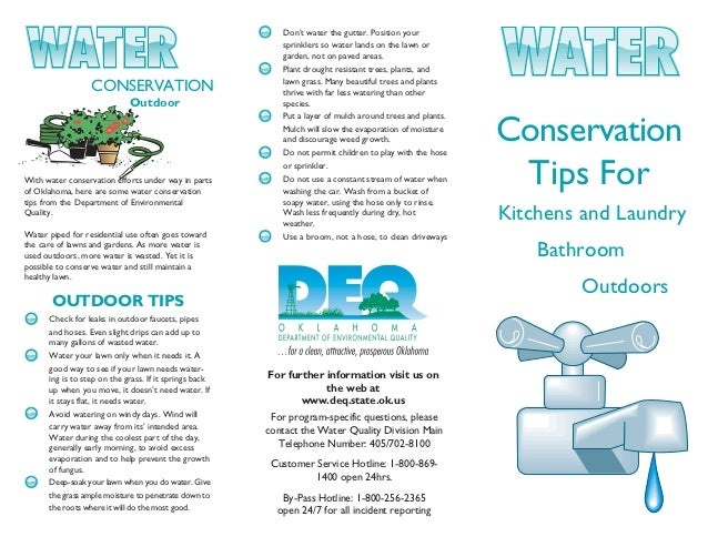 Water Conservation Tips