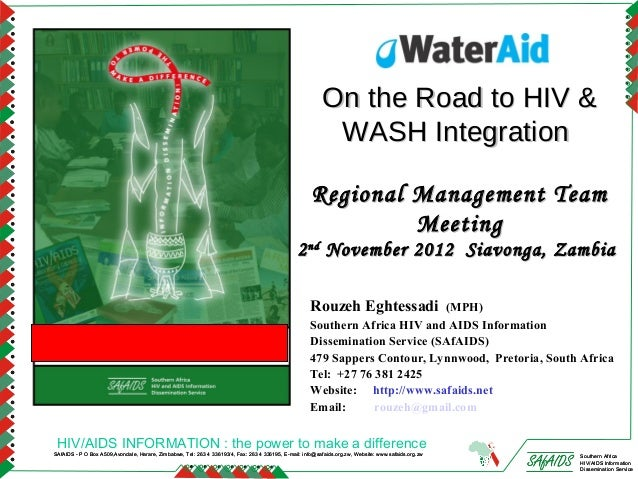 Mainstreaming HIV into Water, Sanitation and Hygiene (WASH)