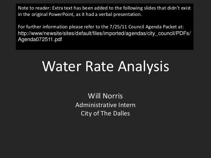 Water analysis website