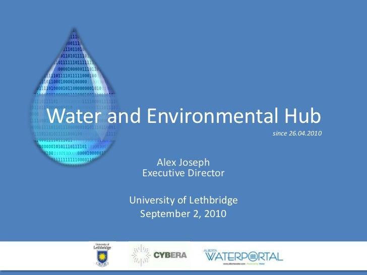 Water and Environmental Hub - U of L