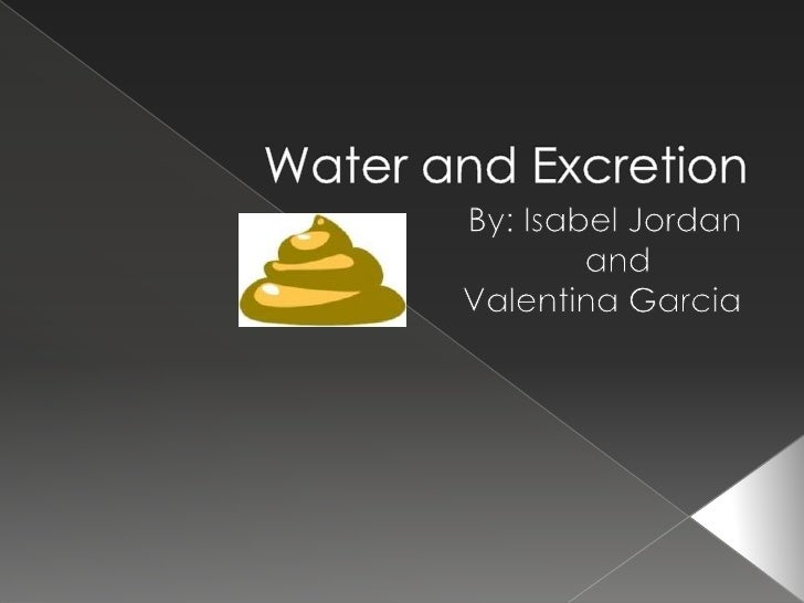Water and Excretion<br />By: Isabel Jordan<br />                                                and <br />Valentina Garcia...