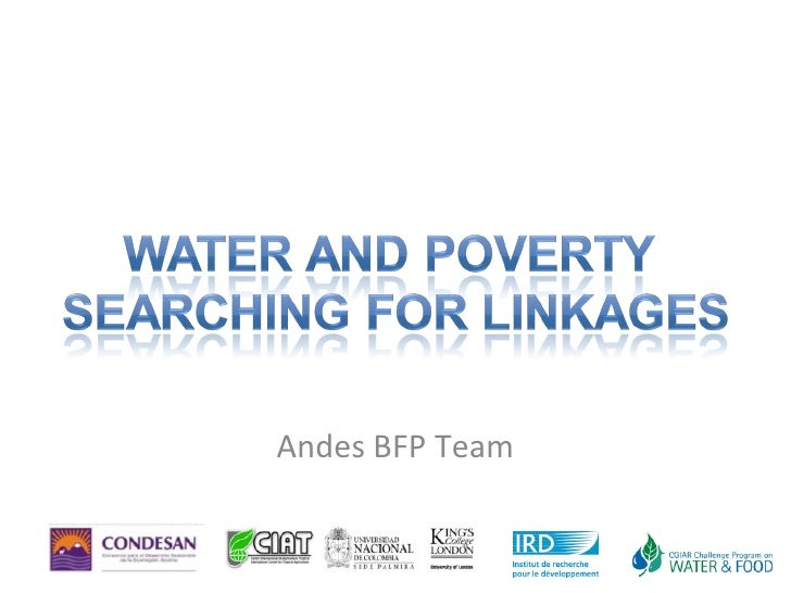 Water And Poverty  Searching For Linkages